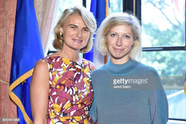 Olivia Flatto and AnneClaire Legendre Consul General of France in New York attend the American Friends of the Paris Opera Ballet Luncheon in honor of...