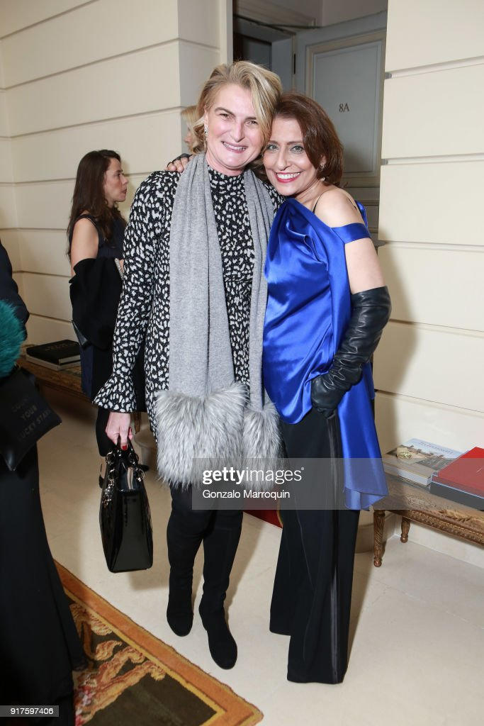 Olivia Flatto and Muna Rihani Al-Nasser during the Susan Gutfreund Hosts UN Women For Peace Association Reception on February 12, 2018 in New York City.