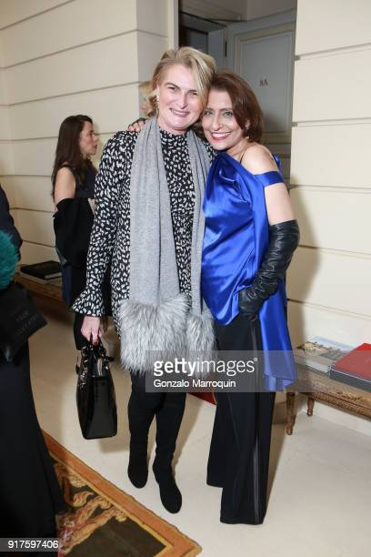Olivia Flatto and Muna Rihani AlNasser during the Susan Gutfreund Hosts UN Women For Peace Association Reception on February 12 2018 in New York City
