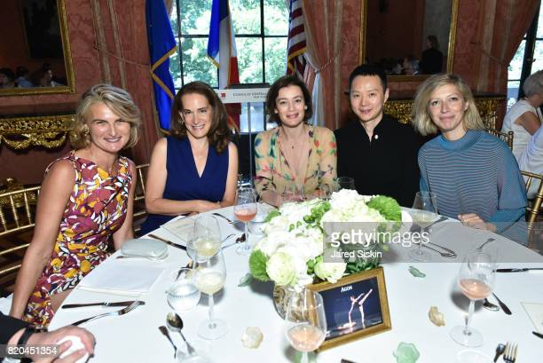Olivia Flatto Debora Spar Aurelie Dupont Shen Wei and AnneClaire Legendre Consul General of France in New York attend the American Friends of the...