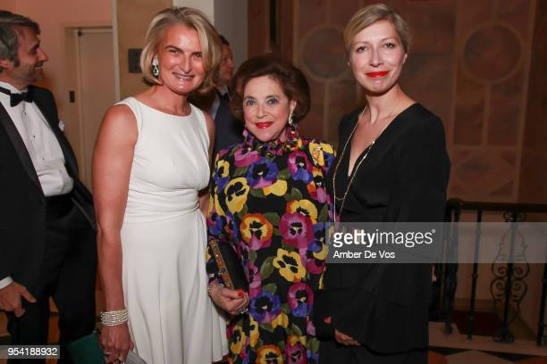 Olivia Flatto Marina KellenFrench and AnneClaire Legendre attend the Launch of the Paris Opera 350th Anniversary in New York with the American...