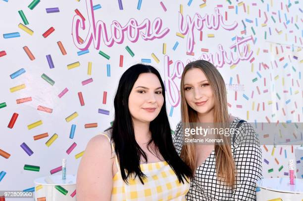 Olivia Frescura and Victoria Frescura attend MAC Cosmetics Oh Sweetie Lipcolour Launch Party in Beverly Hills on June 12 2018 in Beverly Hills...