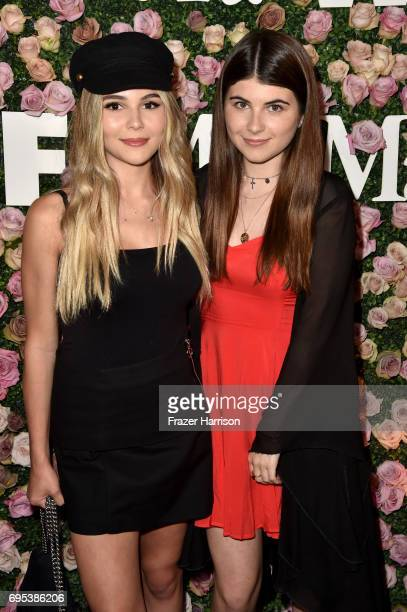 Olivia Giannulli and Bella Giannulli at Max Mara Celebrates Zoey Deutch The 2017 Women In Film Max Mara Face of the Future at Chateau Marmont on June...