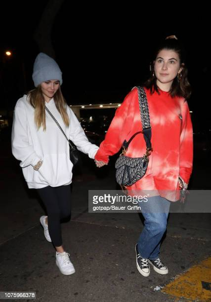 Olivia Giannulli and Isabella Rose Giannulli are seen on December 30 2018 in Los Angeles California