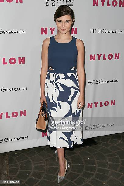 Olivia Giannulli arrives at NYLON and BCBGeneration's Annual Young Hollywood May Issue Event at HYDE Sunset Kitchen Cocktails on May 12 2016 in West...