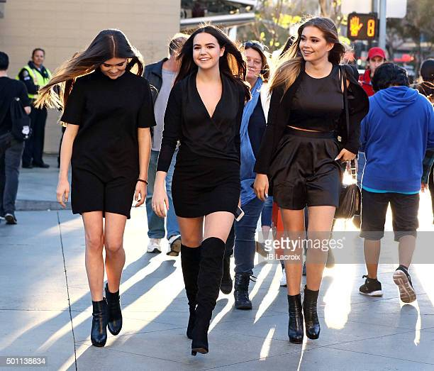 Olivia Giannulli Bailee Madison and Neriah Fisher are seen on December 12 2015 in Los Angeles California
