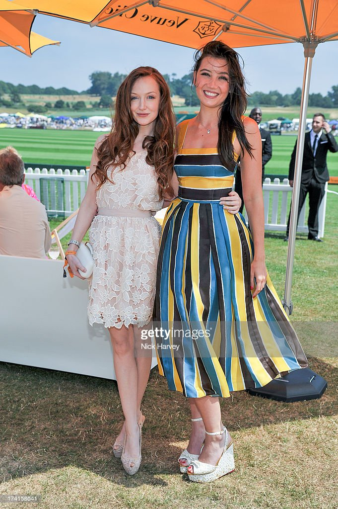 Olivia Grant and Daisy Lowe attend the Veuve Clicquot Gold Cup final at Cowdray Park Polo Club on July 21, 2013 in Midhurst, England.