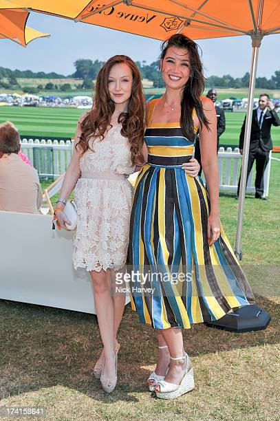 Olivia Grant and Daisy Lowe attend the Veuve Clicquot Gold Cup final at Cowdray Park Polo Club on July 21 2013 in Midhurst England