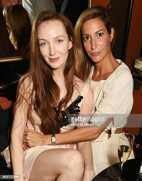 Olivia Grant and Laura Pradelska attend as Blakes hotel celebrates the launch of Blakes Below a luxury bar and lounge designed by Anouska Hempel on...
