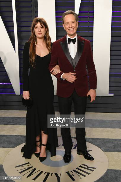 Olivia Grant and Richard E Grant attend the 2019 Vanity Fair Oscar Party hosted by Radhika Jones at Wallis Annenberg Center for the Performing Arts...