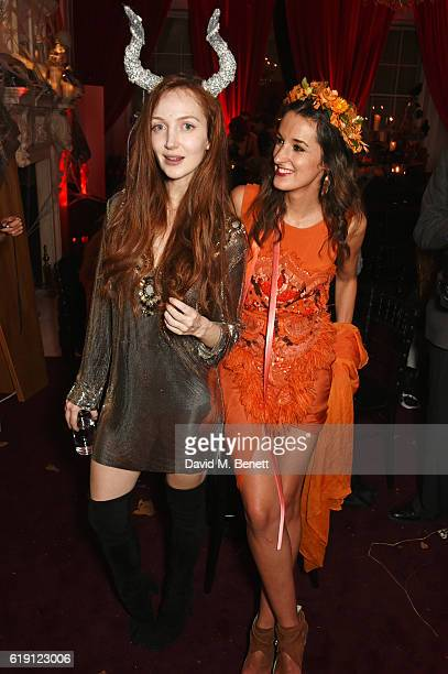 Olivia Grant and Rosanna Falconer attend Halloween at Annabel's at 46 Berkeley Square on October 29 2016 in London England