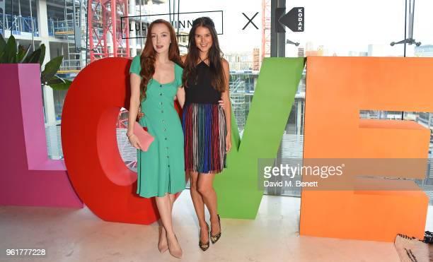 Olivia Grant and Sarah Ann Macklin attend Lulu Guinness x Kodak Party on May 23 2018 in London England