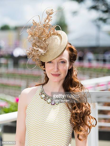 Olivia Grant arrives for day 2 of Royal Ascot at Ascot Racecourse on June 8 2016 in Ascot England