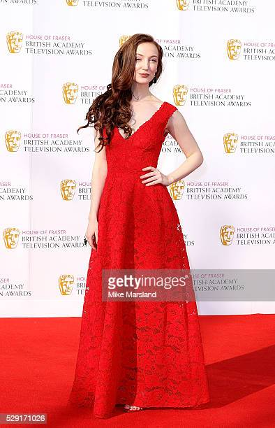 Olivia Grant arrives for the House Of Fraser British Academy Television Awards 2016 at the Royal Festival Hall on May 8 2016 in London England