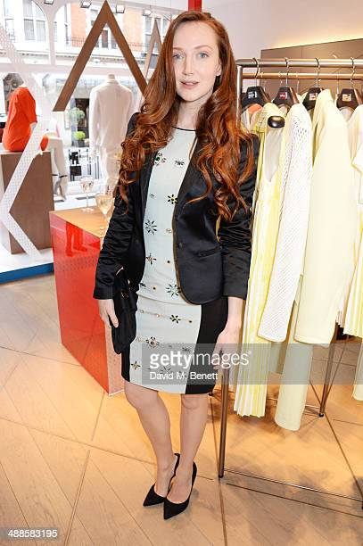 Olivia Grant attends an exclusive tea party hosted by Pringle Of Scotland at their Mount Street store on May 7 2014 in London England