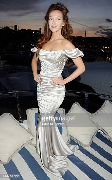 Olivia Grant attends as Eva Longoria and Denise Rich host their Cannes Cocktail Evening produced by Total Management and MandA Events aboard the Lady...