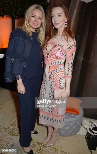 Olivia Grant attends Goga Ashkenazi's celebration of the 'Sustainable Surf' collaboration with Marc Quinn, with dinner at her London home on May 9,...