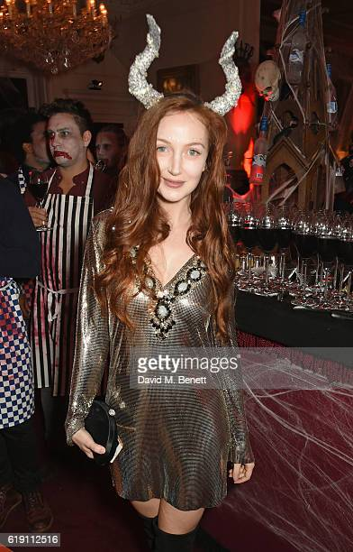 Olivia Grant attends Halloween at Annabel's at 46 Berkeley Square on October 29 2016 in London England