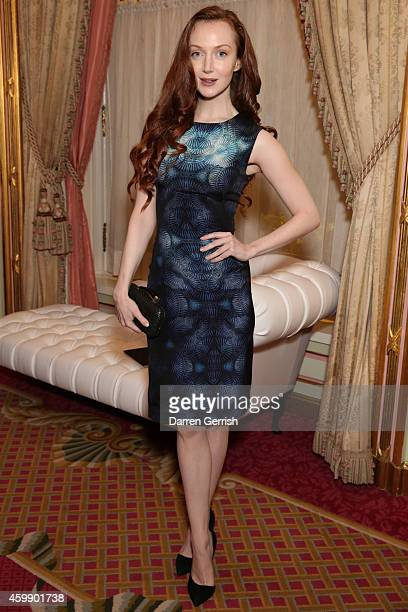 Olivia Grant attends the Fitriani Massimo Izzo reception at The Ritz on December 3 2014 in London England