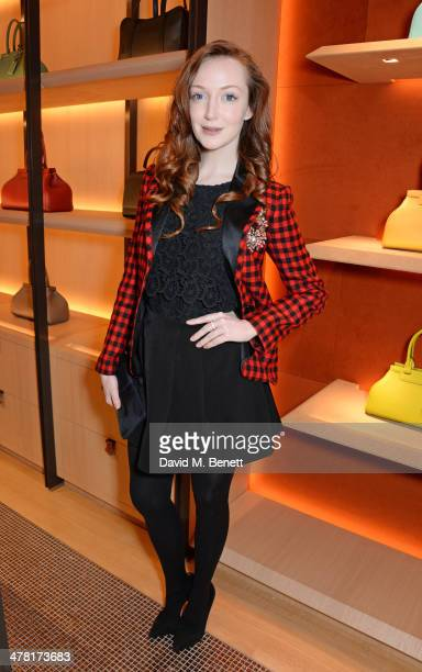 Olivia Grant attends the Moynat London boutique opening on March 12 2014 in London England