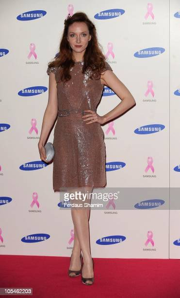 Olivia Grant attends The Samsung Pink Ribbon Celebration which raises funds and awareness of breast cancer at The Royal Exchange on October 14 2010...