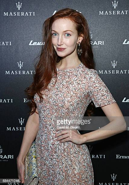 Olivia Grant attends the UK VIP reveal of the Maserati Levante SUV at The Royal Horticultural Halls on May 26 2016 in London England