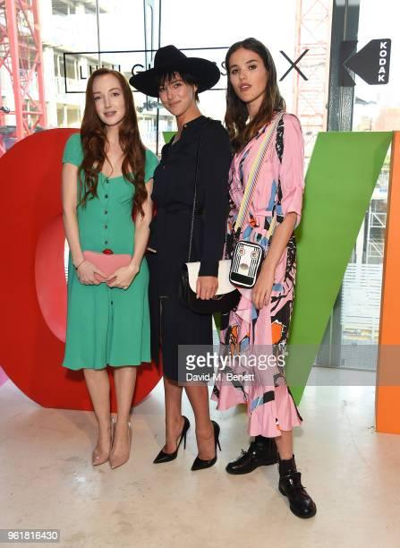 Olivia Grant Eliza Cummings and Frankie Herbert attend Lulu Guinness x Kodak Party on May 23 2018 in London England