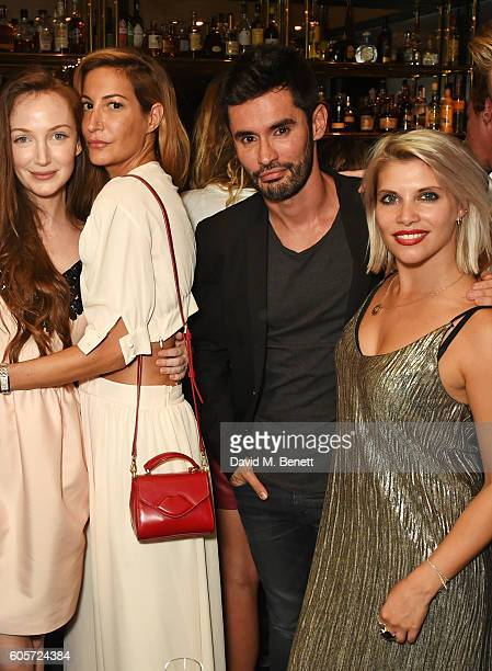 Olivia Grant Laura Pradelska JeanBernard FernandezVersini and Pips Taylor attend as Blakes hotel celebrates the launch of Blakes Below a luxury bar...
