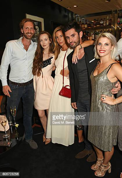 Olivia Grant Laura Pradelska JeanBernard FernandezVersini Pips Taylor attend as Blakes hotel celebrates the launch of Blakes Below a luxury bar and...