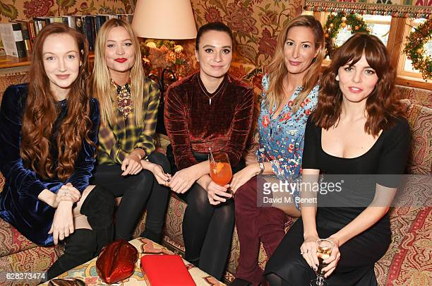 Olivia Grant, Laura Whitmore, Gizzi Erskine, Laura Pradelska and Ophelia Lovibond attend as Lulu Guinness & Jasmine Guinness celebrate Christmas with...