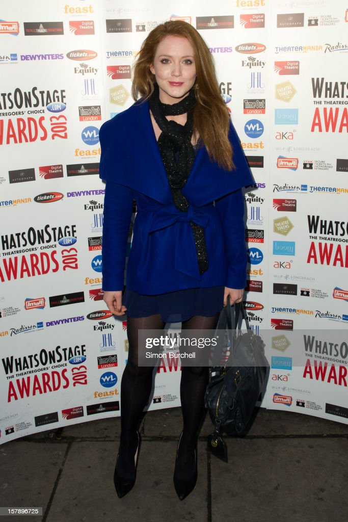 Olivia Hallinan attends the Whatsonstage.com Theare Awards nominations launch at Cafe de Paris on December 7, 2012 in London, England.