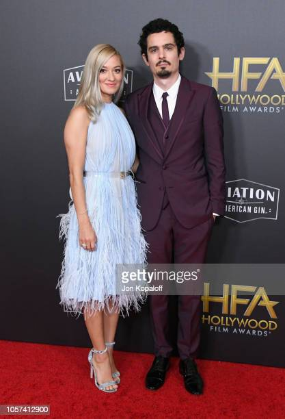 Olivia Hamilton and Damien Chazelle attend the 22nd Annual Hollywood Film Awards at The Beverly Hilton Hotel on November 4 2018 in Beverly Hills...