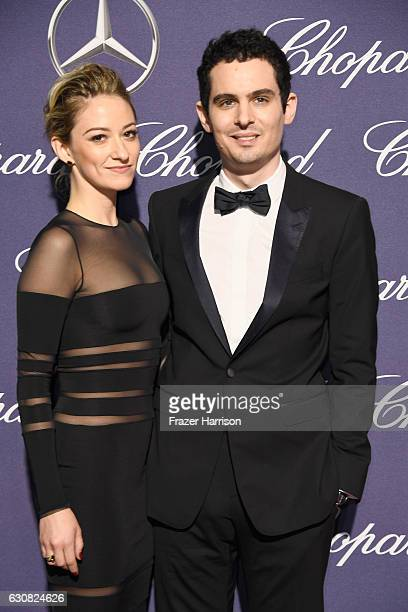 Olivia Hamilton and director Damien Chazelle attend the 28th Annual Palm Springs International Film Festival Film Awards Gala at the Palm Springs...