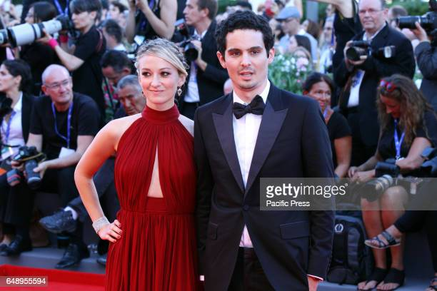 Olivia Hamilton and director Damien Chazelle during 73rd International Art Exhibition of Venice Film Festival A red capet of the film La La Land