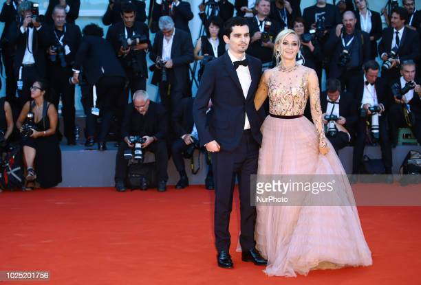 Olivia Hamilton Damien Chazelle walks the red carpet ahead of the opening ceremony and the 'First Man' screening during the 75th Venice Film Festival...