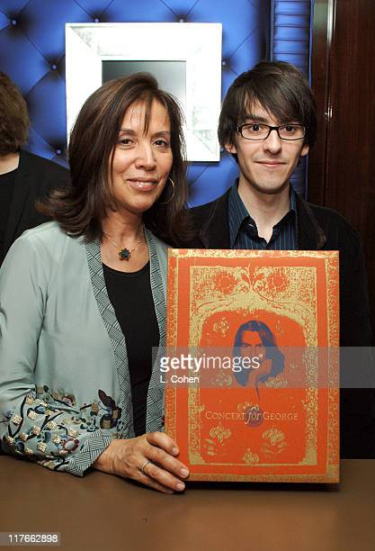 """Olivia Harrison and Dhani Harrison during Olivia Harrison Signs Her Book """"Concert for George"""" - March 15, 2005 at Taschen in Beverly Hills,..."""