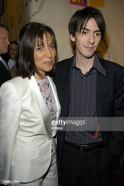 Olivia Harrison and Dhani Harrison during The 19th Annual Rock and Roll Hall of Fame Induction Ceremony - Arrivals at Waldorf Astoria in New York...
