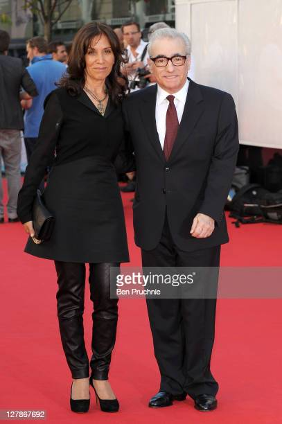 Olivia Harrison and Martin Scorsese attend the 'George Harrison: Living In The Material World' film documentary UK premiere at BFI Southbank on...