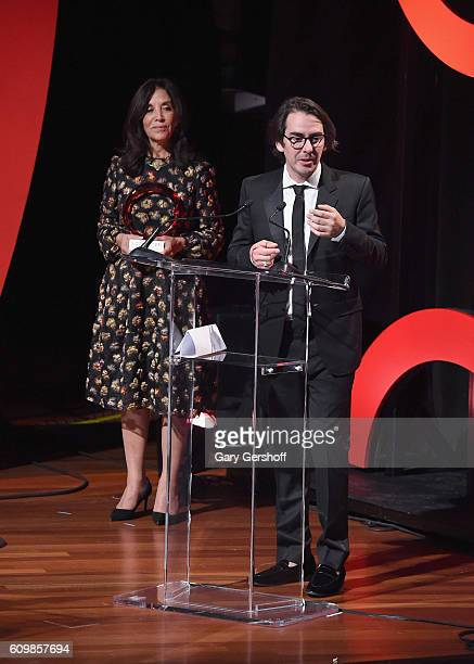 Olivia Harrison and son Dhani Harrison accept the inaugural George Harrison Global Citizen Award during 2016 Global Citizen The World on Stage at...