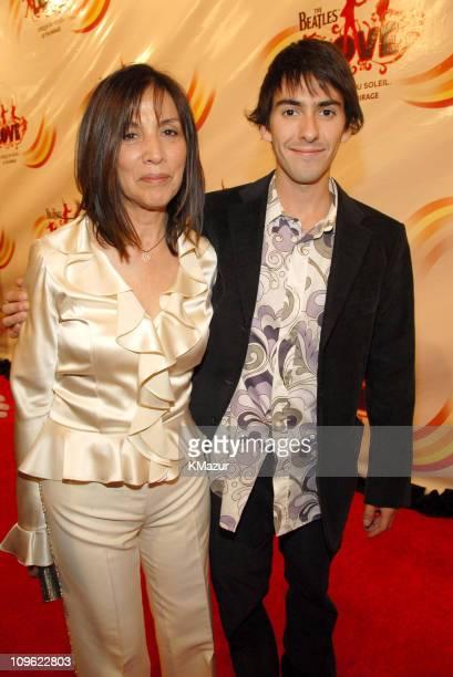 Olivia Harrison and son Dhani Harrison