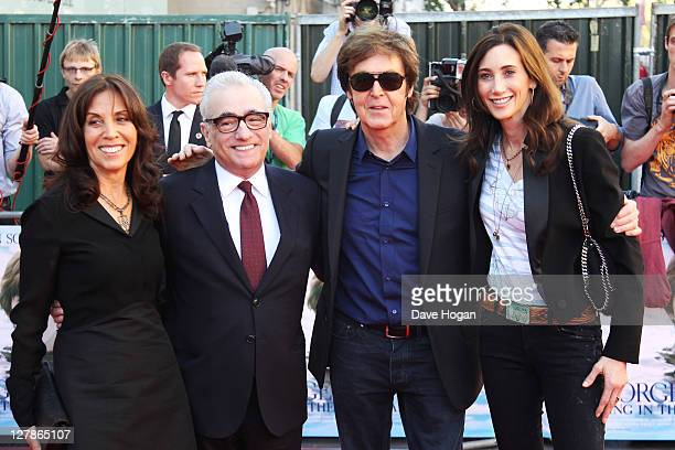 Olivia Harrison Martin Scorsese Sir Paul McCartney and Nancy Shevell attend the UK premiere of George Harrison Living In The Material World at The...