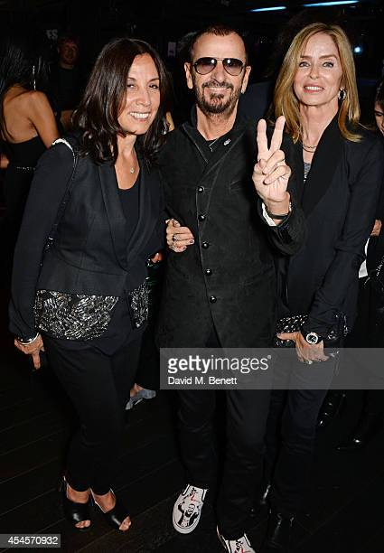 Olivia Harrison Ringo Starr and Barbara Bach attend as John Varvatos launch their first European store in London on September 3 2014 in London England