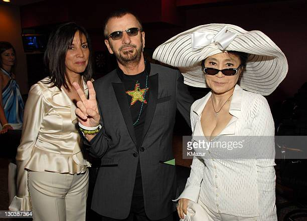 Olivia Harrison Ringo Starr and Yoko Ono *EXCLUSIVE*