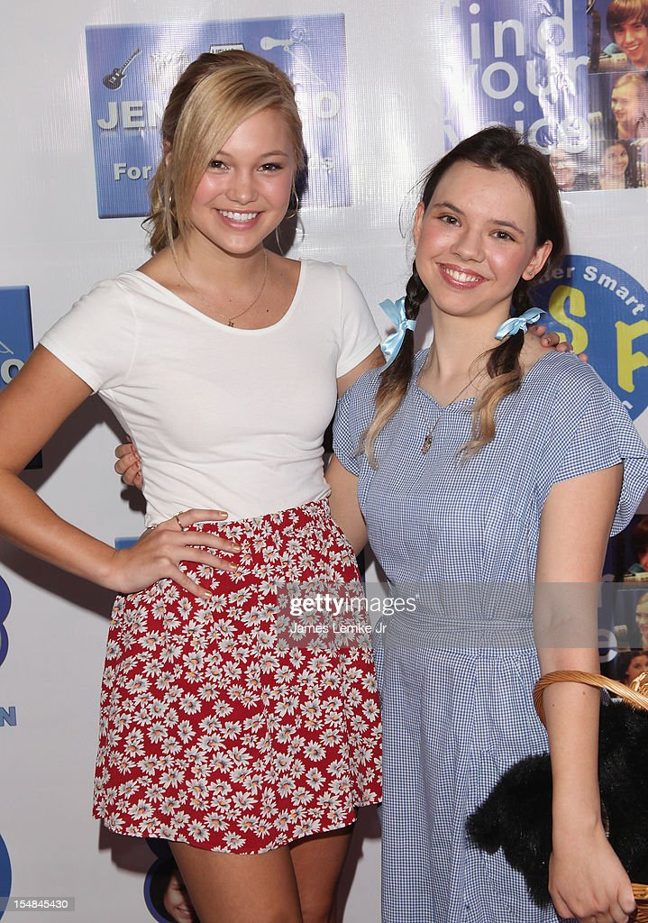 Olivia Holt and Jennifer Smart attend the 'Show Your Character' a costume benefit and concert for The Jennifer Smart Foundation's Find Your Voice Program held at the Smooth Sound Multimedia on October 27, 2012 in Van Nuys, California.