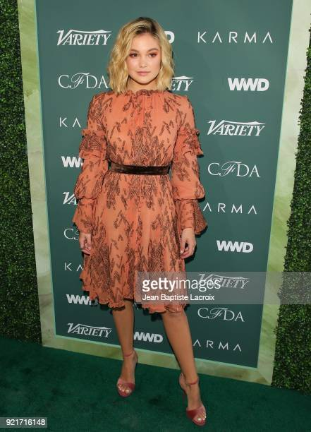 Olivia Holt arrives to the Council of Fashion Designers of America luncheon held at Chateau Marmont on February 20 2018 in Los Angeles California