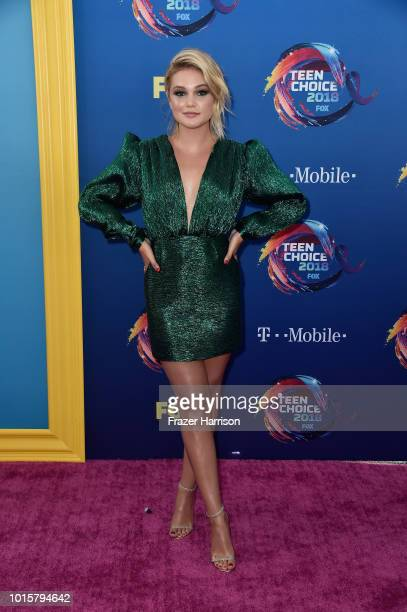 Olivia Holt attends FOX's Teen Choice Awards at The Forum on August 12, 2018 in Inglewood, California.