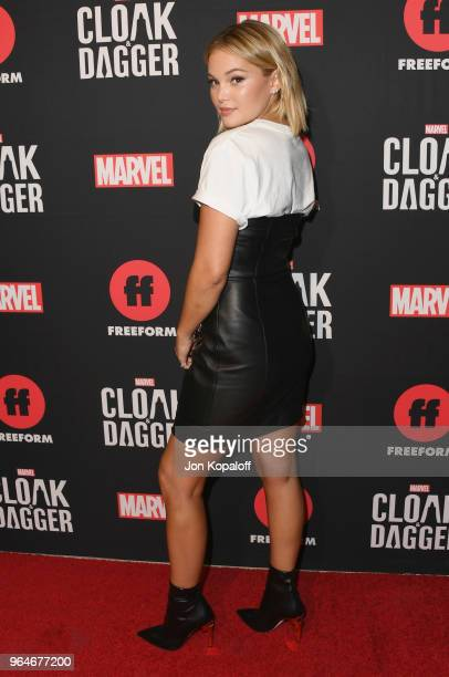 """Olivia Holt attends Freeform And The NAACP Host A Screening For Marvel's """"Cloak & Dagger"""" at The London Hotel on May 31, 2018 in West Hollywood,..."""