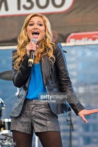 Olivia Holt attends the 2012 Magnificent Mile Lights Festival on November 17 2012 in Chicago Illinois
