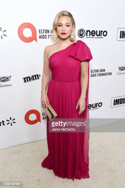 Olivia Holt attends the 28th Annual Elton John AIDS Foundation Academy Awards Viewing Party sponsored by IMDb, Neuro Drinks and Walmart on February...