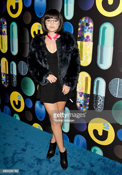 Olivia Holt attends the Just Jared Halloween Party at No Vacancy on October 31 2015 in Los Angeles California